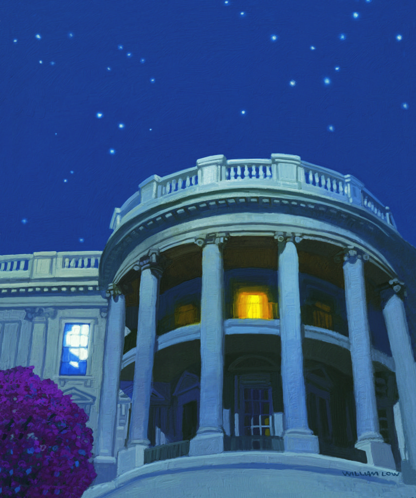 OUR WHITE HOUSE. Illustration © 2008 by William Low. Reproduced by permission of the publisher, Candlewick Press, Somerville, MA.