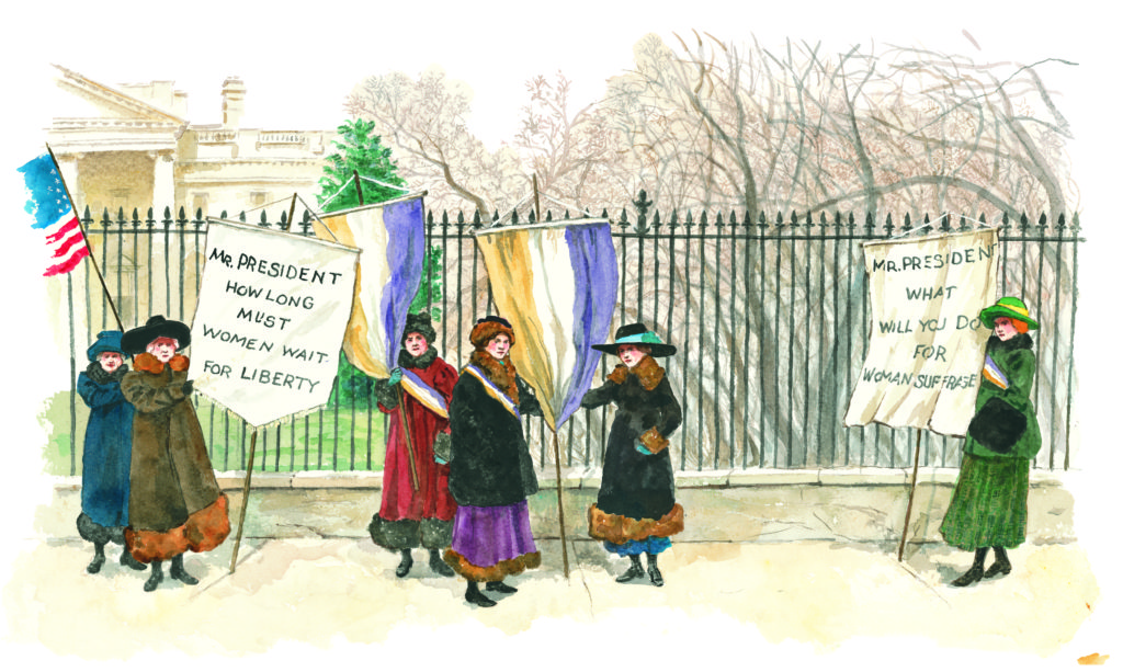 OUR WHITE HOUSE. Illustration © by Emily Arnold McCully. Reproduced by permission of the publisher, Candlewick Press, Somerville, MA.