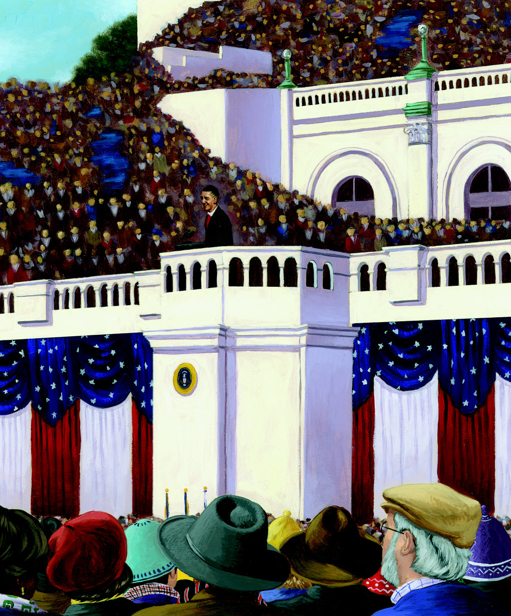 OUR WHITE HOUSE. Illustration © 2008 by A. G. Ford. Reproduced by permission of the publisher, Candlewick Press, Somerville, MA.