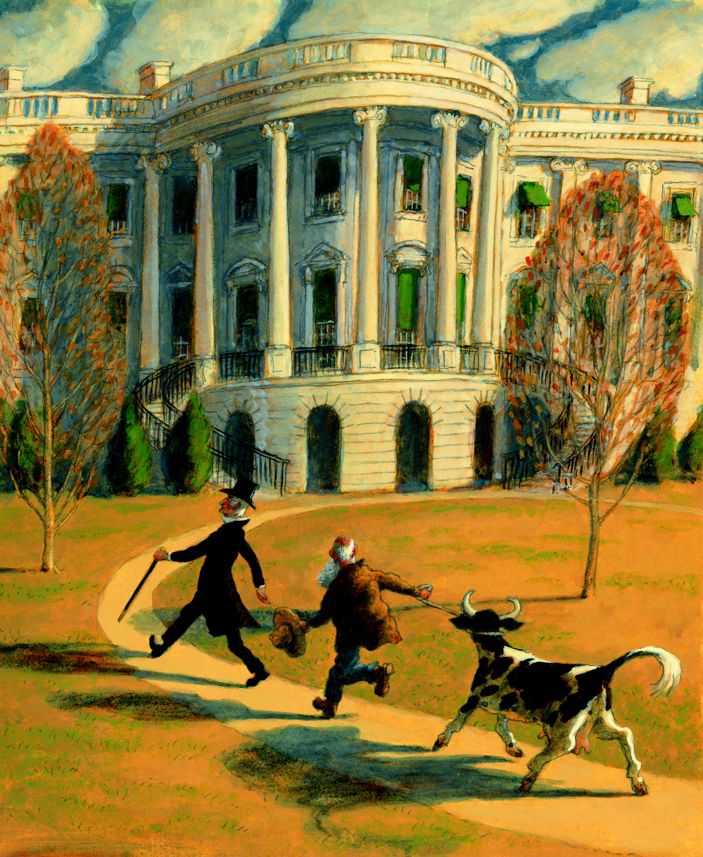 OUR WHITE HOUSE. Illustration © 2008 by Barry Root. Reproduced by permission of the publisher, Candlewick Press, Somerville, MA.