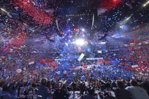 3Balloons drop at the 2016 Democratic National Convention. (SAUL LOEB/AFP/Getty Images)