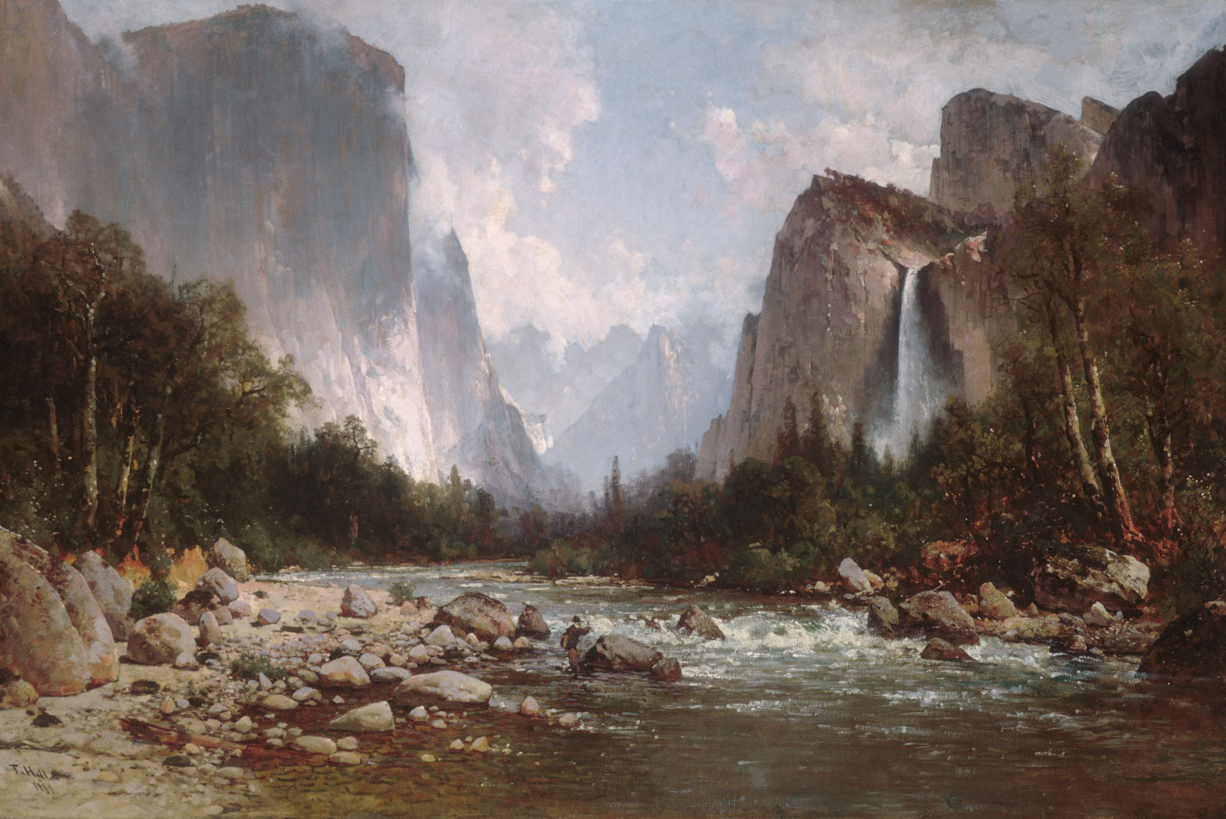VIEW OF YOSEMITE VALLEY by Thomas Hill (1885, which was hung at the luncheon for President Obama's first inauguration. (Source: https://www.metmuseum.org/art/collection/search/11101)